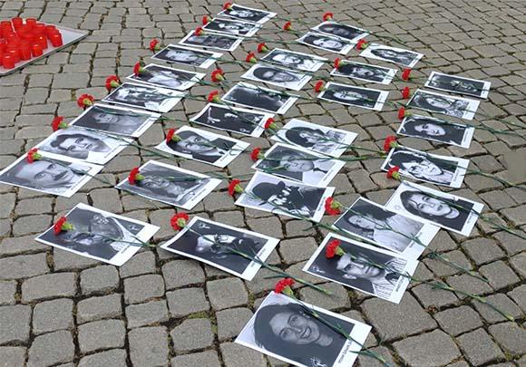 1993 yılında Sivas`ta katledilen 33 kişi Almanya'nın ceşitli şehirlerinde anıldı.