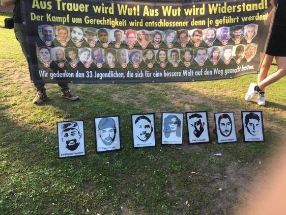Frankfurt'da Suruç Katliamı anması düzenlendi